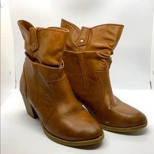 Call It Spring Short Vegan Leather Boots  8